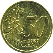 50 cents d'euro (1ère carte) -  revers