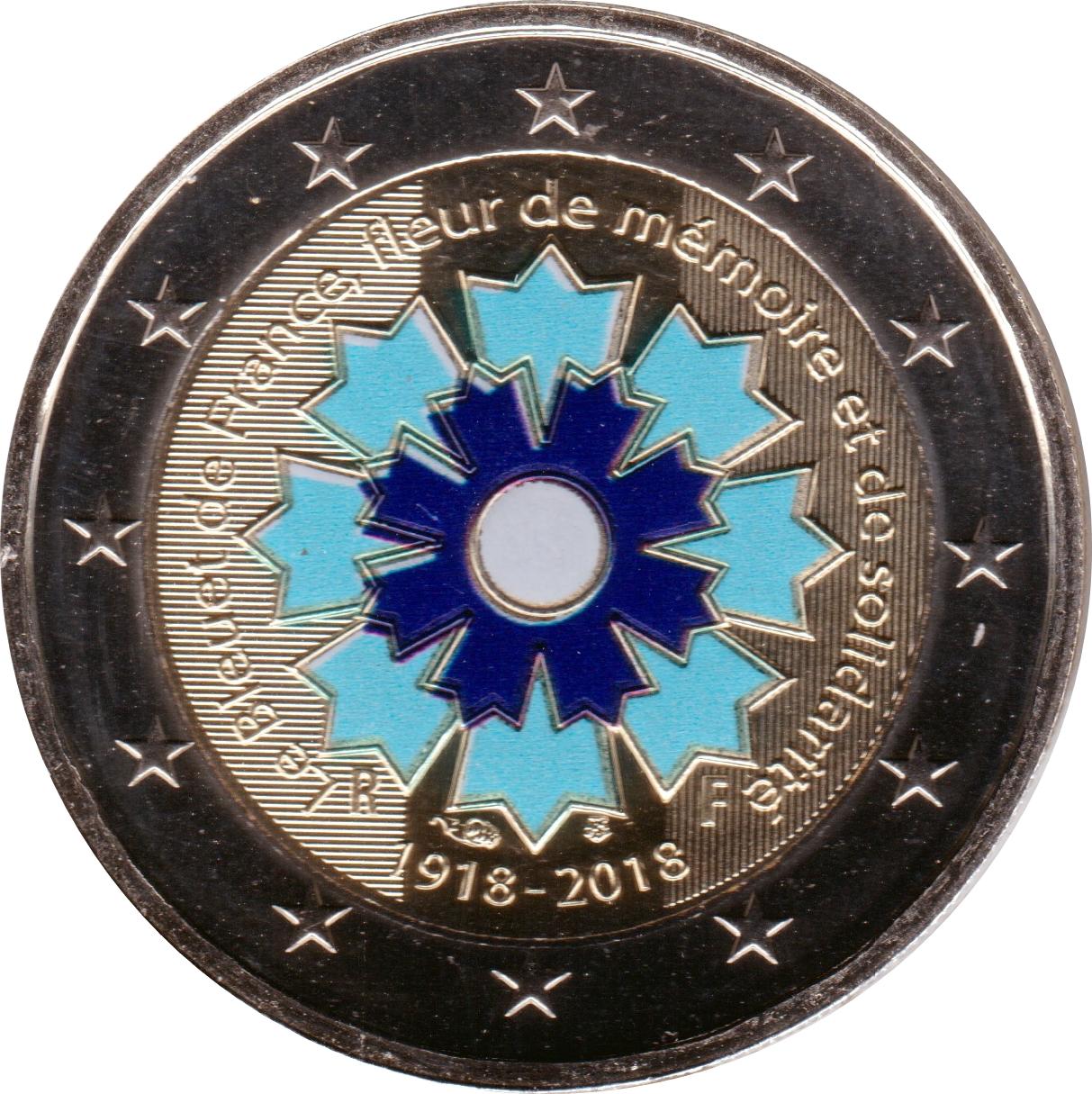 2 euros bleuet de france color e france numista - Coloriage fleur bleuet ...