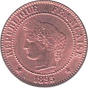 2 centimes Cérès -  avers