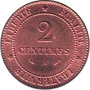 2 centimes Cérès -  revers