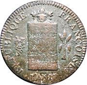 2 sols aux balances (non daté, 1794) – avers