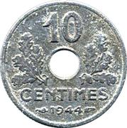 10 centimes Etat français (petit module) -  revers