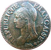 5 centimes Dupré (grand module) -  avers
