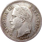 50 centimes Napoléon III (Tête laurée) -  avers