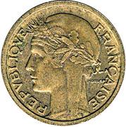 1 franc Morlon (Cupro-aluminium) -  avers