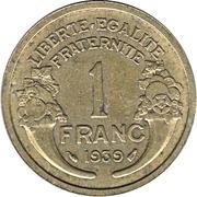 1 franc Morlon (Cupro-aluminium) -  revers