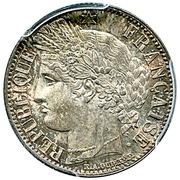 1 franc Cérès (IIe République) -  avers