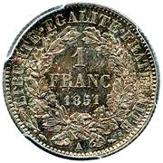 1 franc Cérès (IIe République) -  revers