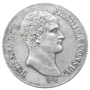 5 francs Bonaparte Premier Consul -  avers