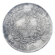 5 francs Bonaparte (consul) -  revers