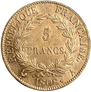 5 francs Napoléon Empereur (République Française) -  revers