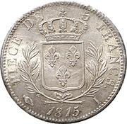 5 francs Louis XVIII (buste habillé) -  revers