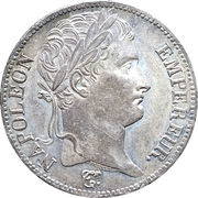 5 francs Napoléon Empereur (Empire Français) -  avers