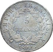 5 francs Napoléon Empereur (Empire Français) -  revers