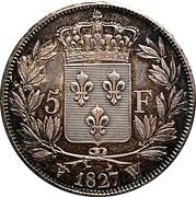 5 francs Charles X (2e type) -  revers