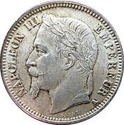 1 franc Napoléon III (tête laurée) -  avers