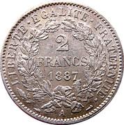 2 francs Cérès (IIIe République, avec légende) -  avers