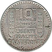 10 francs Turin -  revers
