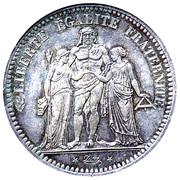 5 francs Hercule (IIe République) -  avers