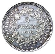 5 francs Hercule (IIe République) -  revers