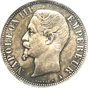 5 francs Napoléon III (tête nue) -  avers