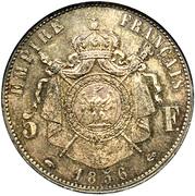 5 francs Napoléon III (tête nue) -  revers