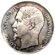 5 francs Louis-Napoléon Bonaparte (tête nue - République française) -  avers