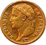 20 francs Napoléon (Tête laurée, empire français) -  avers