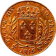 20 francs Louis XVIII (buste habillé) - Londres -  revers