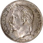 5 francs Napoléon III (tête laurée- Empire français) -  avers