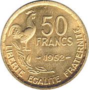 50 francs Guiraud -  revers