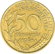 50 centimes Marianne -  revers