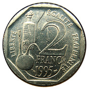 2 francs Louis Pasteur -  revers