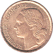 20 francs Guiraud (initiale G) -  avers
