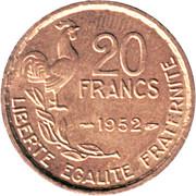 20 francs Guiraud (G.Guiraud) -  revers