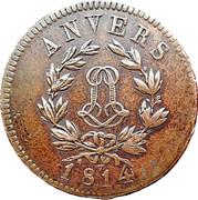 5 centimes Louis XVIII (Siège d'Anvers, monogramme étroit) – avers