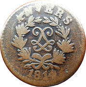 5 centimes Louis XVIII (Siège d'Anvers, monogramme large) – avers