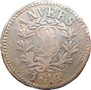10 centimes Louis XVIII (Siège d'Anvers, monogramme serré) – avers