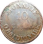 10 centimes Louis XVIII (Siège d'Anvers, monogramme serré) – revers