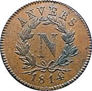 5 centimes Napoléon (Siège d'anvers) – avers
