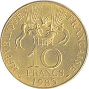 10 francs Conquête de l'Espace -  revers