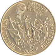 10 francs Gambetta -  revers
