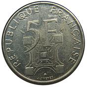 5 francs Tour Eiffel -  avers