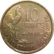 10 francs Guiraud -  revers