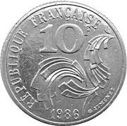 10 francs Jimenez -  revers