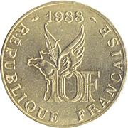 10 francs Roland Garros -  revers
