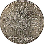 100 francs Panthéon -  revers