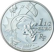1½ euros Astérix (Le banquet) -  revers