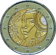 2 euros Fête de la Fédération (non colorée) -  avers