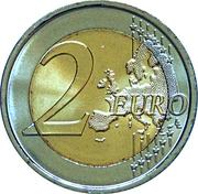 2 euros Fête de la Fédération (non colorée) -  revers
